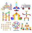 children toy construction vector image