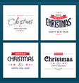 chrismtas typographic sets light vector image vector image
