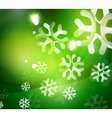 Christmas green abstract background with white vector image