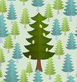 Christmas trees seamless pattern Conifers