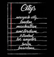 citys typography graphic design vector image