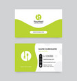 creative green business card vector image vector image
