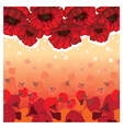 cute poppies card vector image vector image
