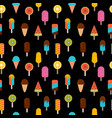 cute summer seamless pattern with ice cream on vector image vector image