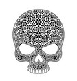 day of the dead skull skull sugar flower skull vector image vector image