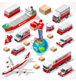 Delivery 05 Infographic Isometric vector image
