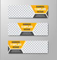 design of horizontal web banners with place for vector image vector image