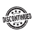 discontinued faded stamp vector image