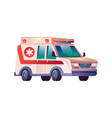 emergency ambulance van first aid medical car icon vector image