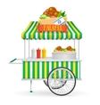 Falafel Street Market vector image vector image