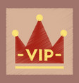 flat shading style icon crown royal vector image vector image