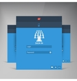flat UI design trend interface vector image