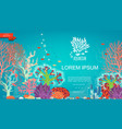 flat underwater colorful background vector image vector image