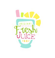 fresh juice 100 percent logo original design vector image vector image