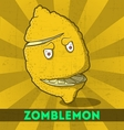 Funny cartoon zombie yellow monster lemon vector image vector image