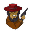 gangster monkey in suit holding machine gun vector image
