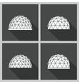 Geodesic dome flat
