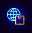 global delivery neon sign vector image vector image
