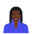 handsome black man with retro hairstyle long curly vector image vector image