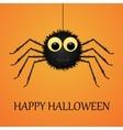 Happy Halloween orange background with spider vector image vector image