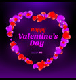 happy valentines day frame consisting red and vector image vector image