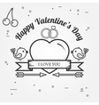 Happy Valentines Day greetings card labels badges vector image vector image