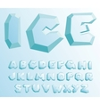 ice alphabet vector image vector image