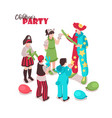 kids costume party background vector image