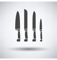 Kitchen knife set icon vector image