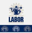 labor logo vector image vector image