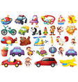 large set toys vector image vector image