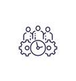 management icon on white line design vector image