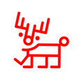 marker style cartoon deer red christmas vector image vector image