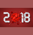 modern concept 2018 happy new year and gift vector image vector image