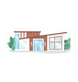 modern contemporary house design simple vector image vector image