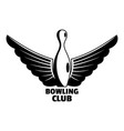 new bowling clubs logo simple style vector image