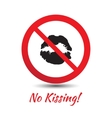 No kisses sign vector image vector image