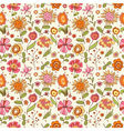 Pattern with cartoon flowers vector | Price: 1 Credit (USD $1)
