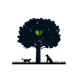 pets in nature vector image vector image
