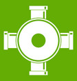 pipe fitting icon green vector image vector image