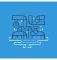 Plumbing services concept dropping water from vector image vector image
