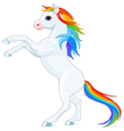 Rainbow horse vector image vector image