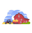 rural valley farm countryside vector image