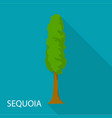 sequoia icon flat style vector image vector image