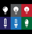 set of light bulb icon in stencil style vector image vector image
