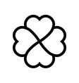 shamrock symbol fourleaf clover black vector image vector image