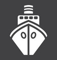 ship glyph icon transport and boat travel sign vector image vector image
