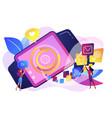 smartwatch app concept vector image
