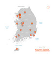 south korea map with administrative divisions vector image