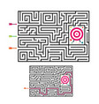 square maze labyrinth game for kids labyrinth vector image vector image